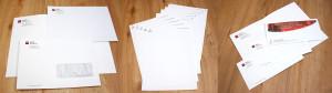 Listovni a dopisni obalky, hlavickove papiry